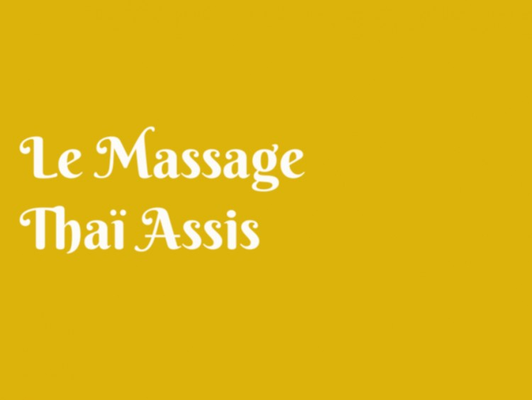 image, le massage assis